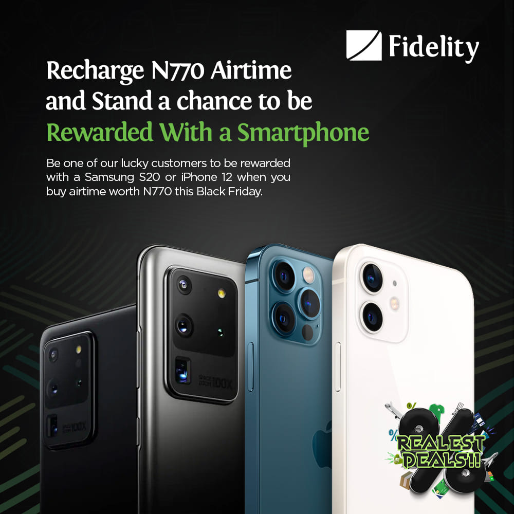 Recharge With Fidelity Bank and Win a Samsung SmartPhone or an iphone