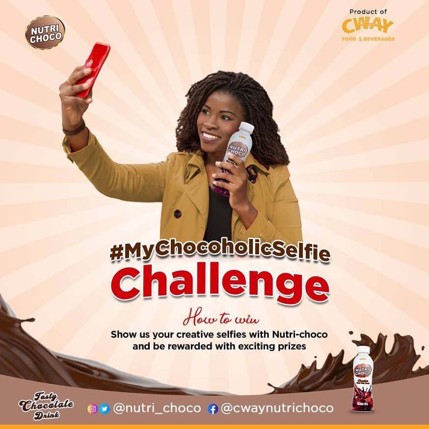 Join the #MyChocoholicSelfie Challenge, and be one of 10 people to WIN cash prizes.