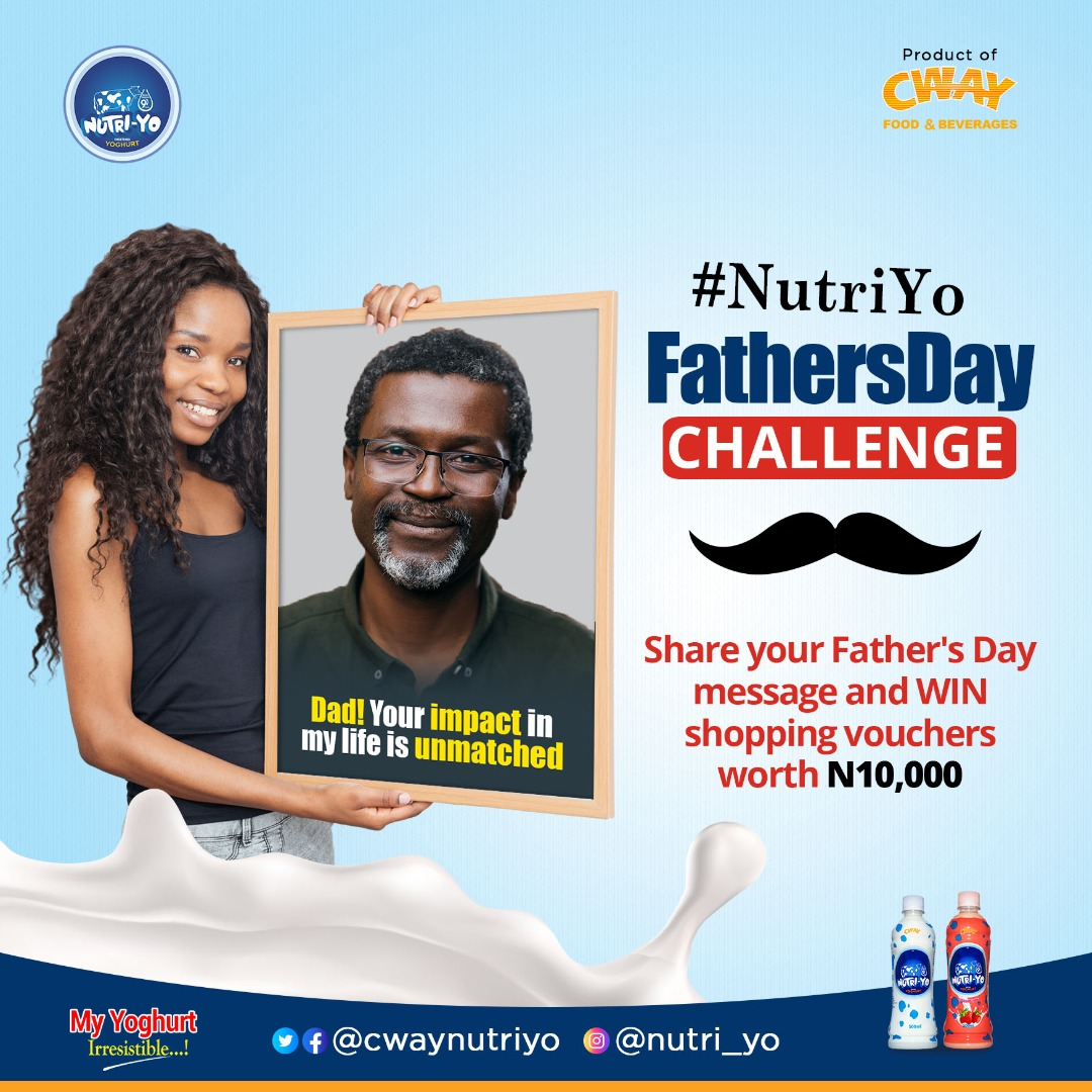 Win N10k Shopping Vouchers in NutriYo Fathers Day Challenge.
