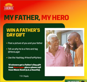 10 People to Win a Gift from Hero Lager Fathers Day Giveaway.