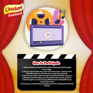 Win Amazing Prizes in #MyCheckersComedy Challenge.