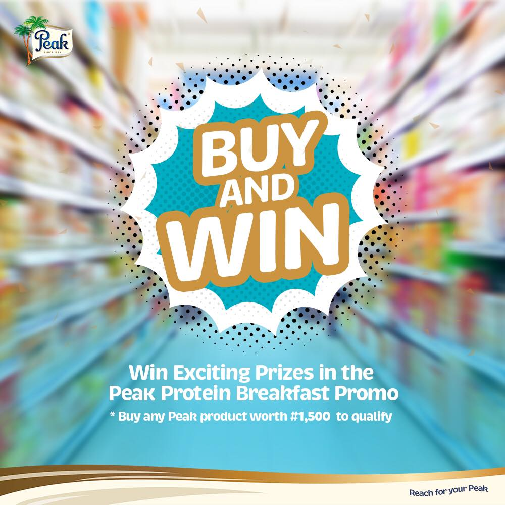 Buy And Win Prizes in Peak Protein Breakfast Story Promo.