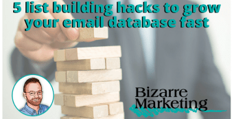 5 list building hacks to grow your email database fast