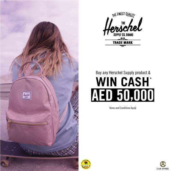7328b61ad49a2 Buy Herschel product stand a chance to win AED 50
