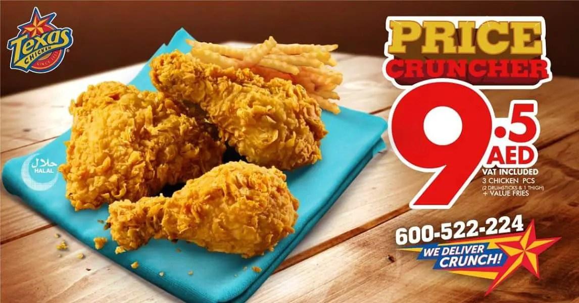 Texas Chicken Riyadh Menu Prices