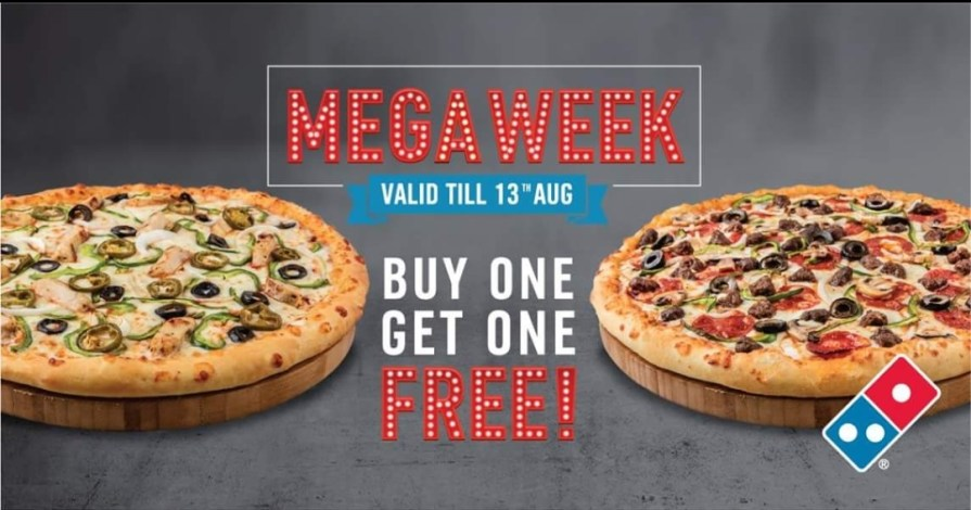 Buy 1 Get 1 Free On Any Medium Or Large Pizza Domino S Pizza