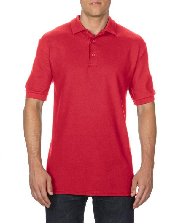 Gildan Premium Cotton Adult Double Pique Sport Shirt Red 2Xlarge (82800) 1 | | Promotion Wear