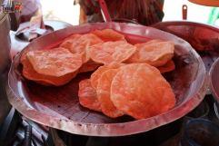 Poori at a Vendor Stall - Places to Visit around Hampi