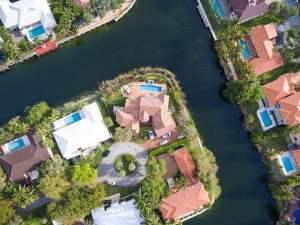 aerial view of Florida neighborhood