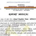 raport medical