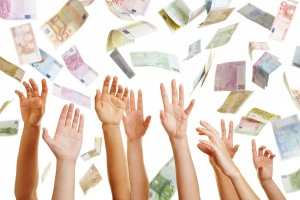 http://www.dreamstime.com/stock-photography-hands-reaching-flying-euro-money-many-air-image33042182