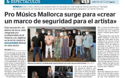 Entrevista Ultima Hora, Cultura i Espectacles