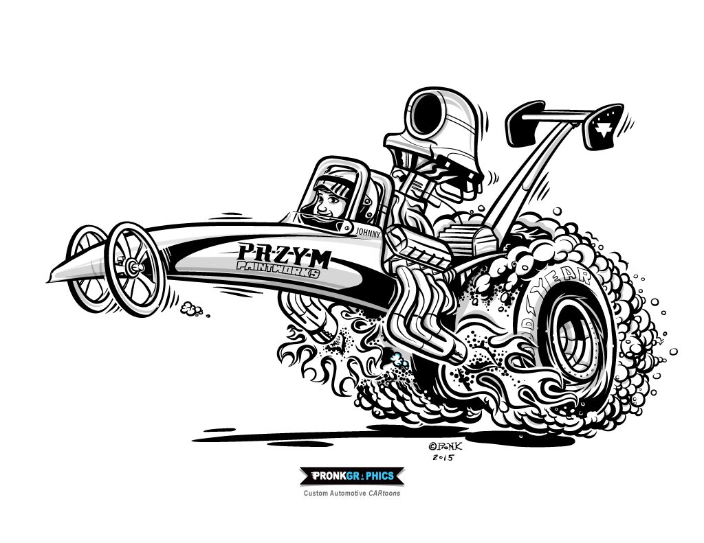 Top Fuel Dragster Coloring Pages Sketch Coloring Page