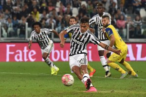 during the Serie A match between Juventus FC and AC Chievo Verona at Juventus Arena on September 12, 2015 in Turin, Italy.