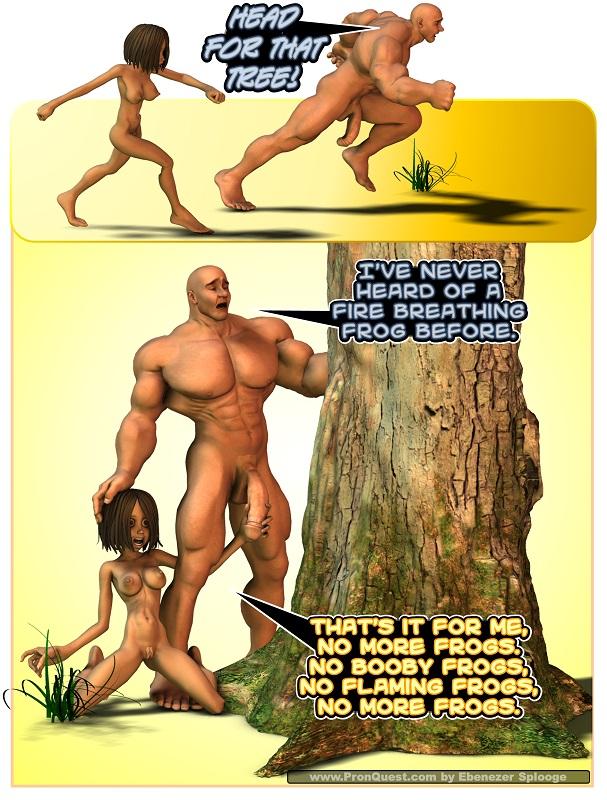 Tree sized hentai cock.