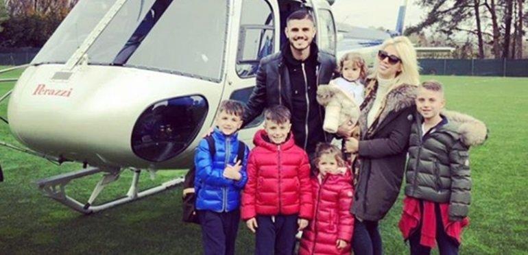 Las divertidas vacaciones de Wanda Nara, Mauro Icardi y sus hijos en la nieve