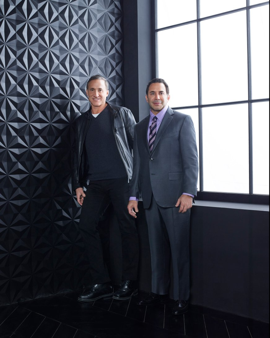 E! BRAND SHOOT -- Season: 014 -- Pictured (l-r): Dr. Terry Dubrow, Dr. Paul Nassif -- (Photo by: Brian Bowen Smith/E!)