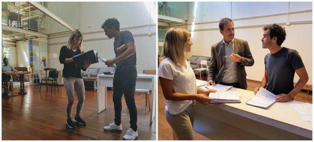 Las fotos de Laurita Fernández y Nicolás Cabré en los primeros ensayos de