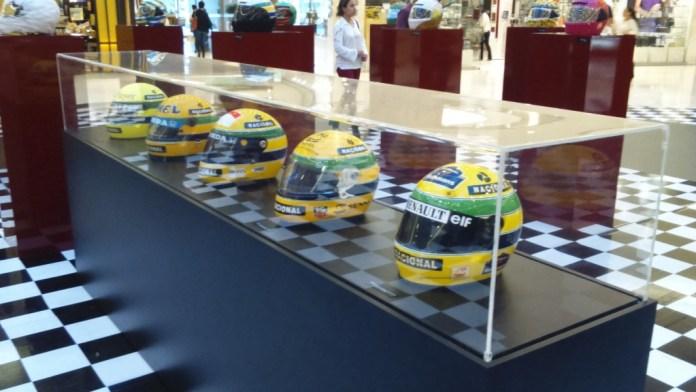 Capacetes utilizados por Ayrton Senna