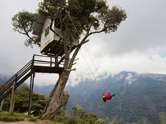 O balanço fica preso em uma casa na árvore a 2.600 metros acima do nível do mar. Foto: divulgação