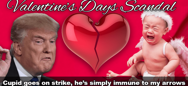 Cupid goes on Strike, Trump declares National Emergency