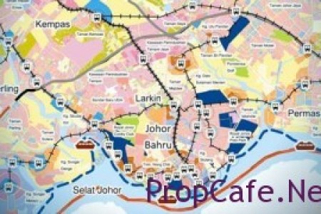 Iskandar Malaysia development map