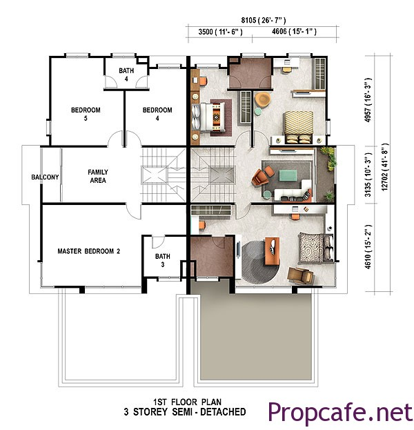 floor-plan-3-storey-semi-detached-caribea-first-floor