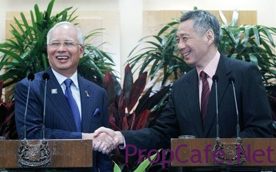 Singapore and Malaysian leaders meeting