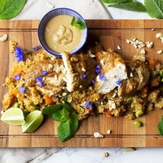 Chicken Satay and Quinoa Salad
