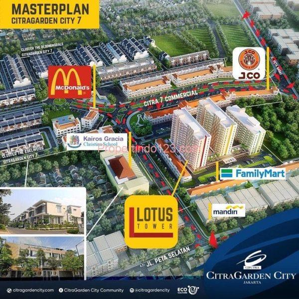 CitraGarden City Jakarta Barat - Master Plan   Propertindo123.com