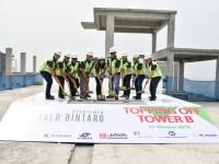 topping off Tower B Apartemen Emerald Bintaro