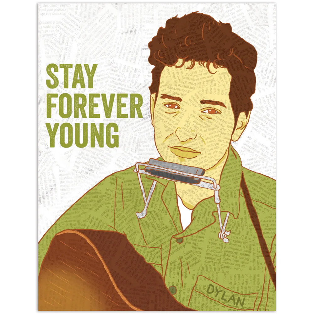 Forever Young Bob Dylan Birthday Card Proper Topper