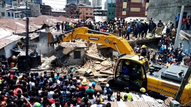 Image result for collapse of buildings in Nigeria