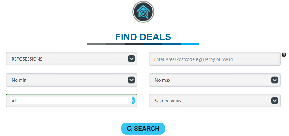 Find Repossessions Deals using Property Deals Insight's Deal Finder offering