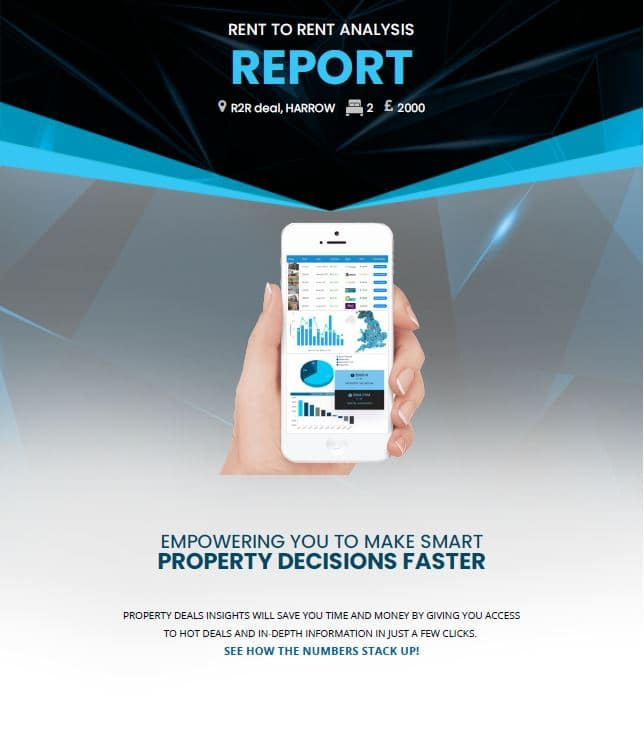 Rent to Rent Analysis Reports by Property Deals Insight