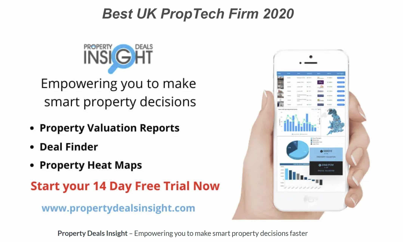 Winner of Best UK PropTech Firm 2020 - Property Deals Insight