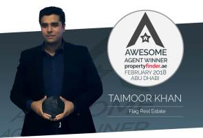 Meet our first Awesome Agent for Abu Dhabi, February's winner Taimoor Khan from Flag Real Estate