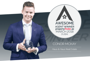 Meet our Dubai Awesome Agent winner for March Conor Mckay from haus & haus Real Estate