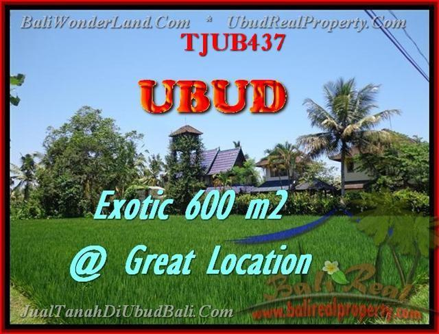 Magnificent PROPERTY UBUD BALI 600 m2 LAND FOR SALE TJUB437