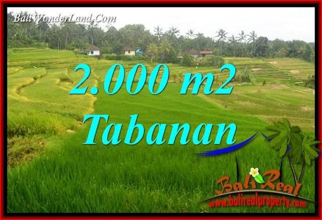 Exotic 2,000 m2 Land in Tabanan Selemadeg for sale TJTB396