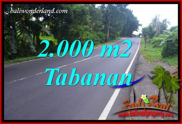 Beautiful 2,000 m2 Land sale in Tabanan Selemadeg Bali TJTB398