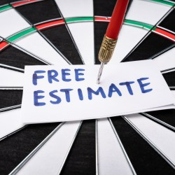 Free Estimate On Paper Pinned By Dart To Bullseye On Dart Board For Property Manager Insider