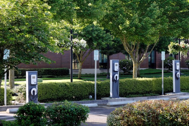 3 Parking Spaces At Office Building With The Top EV Charging Stations For Commercial Properties