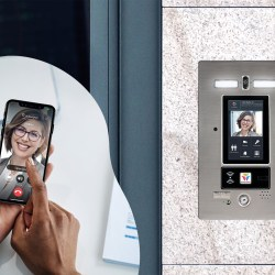 Commercial Intercom System In Use On Mobile Phone