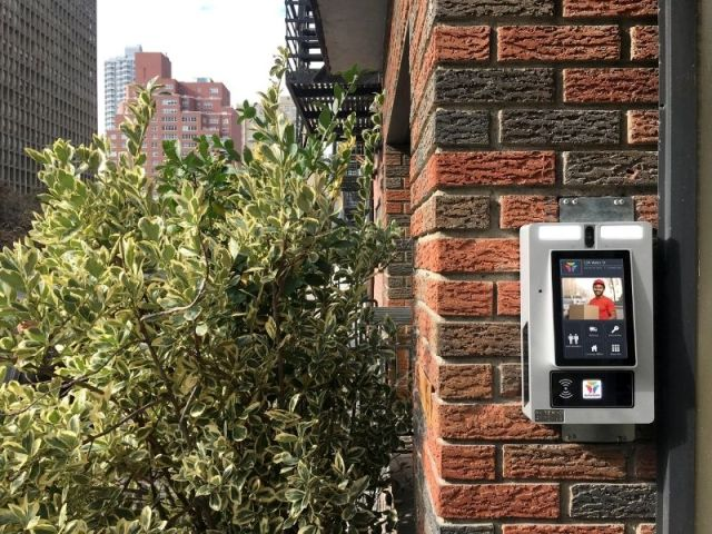 Commercial Intercom System With Video Chat Outside Multifamily Building