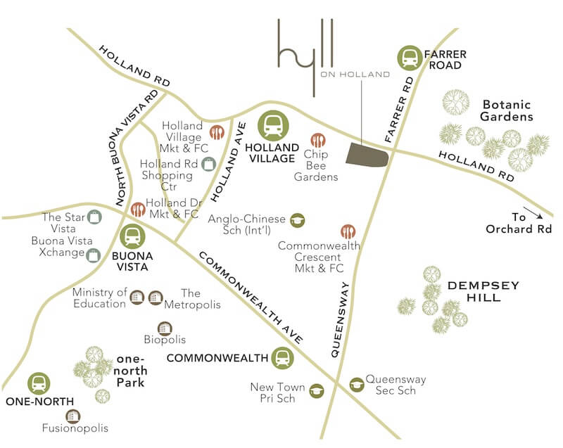 Hyll on Holland Location