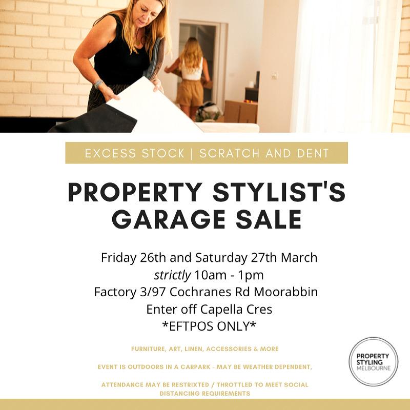Property Styling Melbourne Garage Sale
