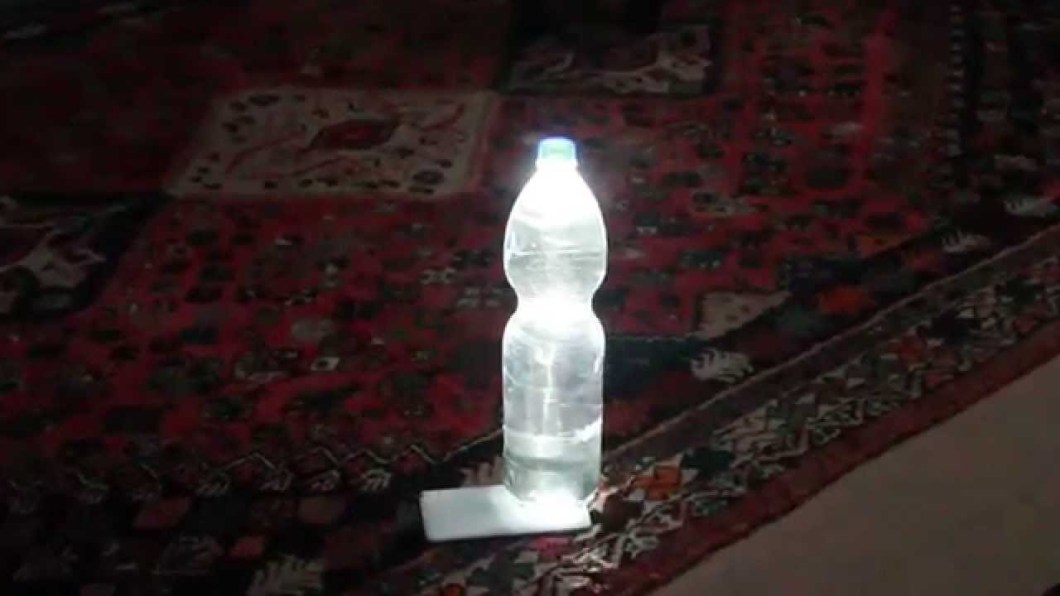 Water Bottle Lamp from Phone LED