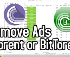 remove ads in torrent