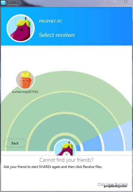 Scan for Other PC in Shareit Software